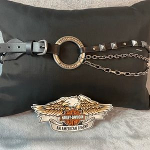 NWOT Harley Chain/Leather Belt